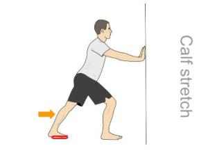 achilles stretch with medial arch support